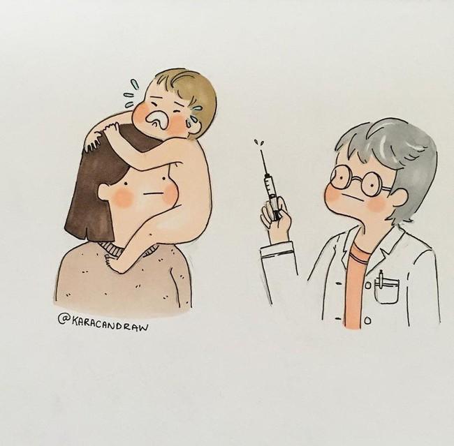 Mẹ nuôi con nhỏ nào cũng thấy mình trong những bức vẽ phác họa khoảnh khắc đời thường mà đầy xúc cảm này - Ảnh 10.