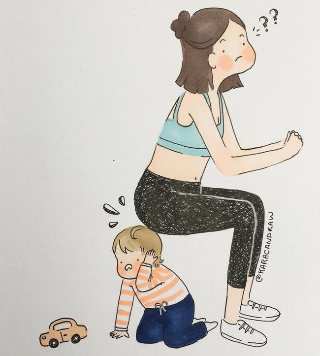 Mẹ nuôi con nhỏ nào cũng thấy mình trong những bức vẽ phác họa khoảnh khắc đời thường mà đầy xúc cảm này - Ảnh 15.