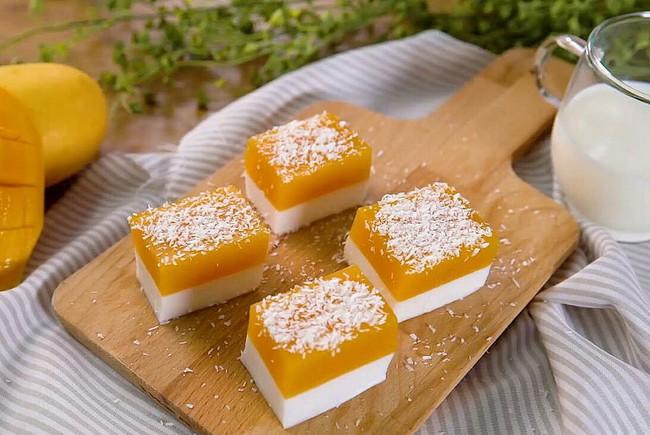 Làm pudding xoài dừa vô cùng nhanh gọn mà vị ngon thanh mát cho những ngày hanh hao cuối hè - Ảnh 6.
