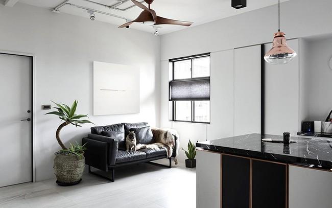 Chỉ với hai màu ghi và đen, căn hộ của cặp vợ chồng trẻ trở nên ấn tượng và cá tính bất ngờ  - Ảnh 2.