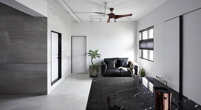 Chỉ với hai màu ghi và đen, căn hộ của cặp vợ chồng trẻ trở nên ấn tượng và cá tính bất ngờ  - Ảnh 5.