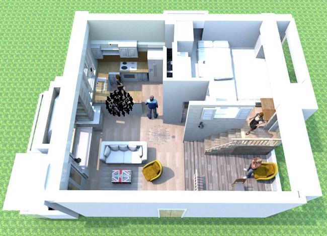 Căn hộ đẹp bình yên với nội thất nhỏ gọn cùng cách sắp xếp đồ thông minh của vợ chồng trẻ - Ảnh 3.