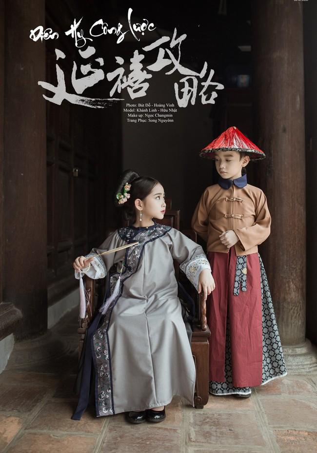 Cặp mẫu nhí Hà thành hóa thân xuất sắc trong bộ ảnh Diên hy công lược phiên bản Việt - Ảnh 2.
