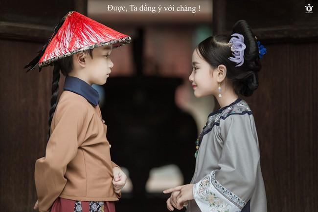 Cặp mẫu nhí Hà thành hóa thân xuất sắc trong bộ ảnh Diên hy công lược phiên bản Việt - Ảnh 6.