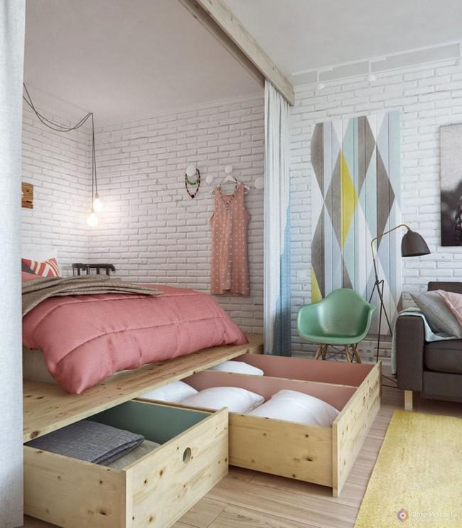 Với 9 thiết kế thông minh này thì chẳng cần giường, phòng ngủ của bạn vẫn cực đẹp và tiện nghi - Ảnh 8.