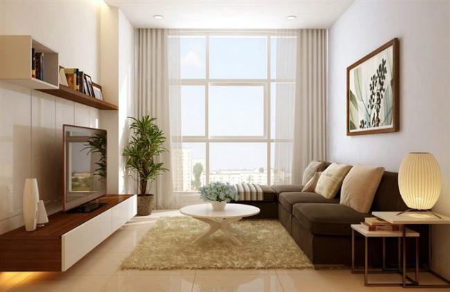 Bí quyết trang trí phòng khách 12m² - Ảnh 1.