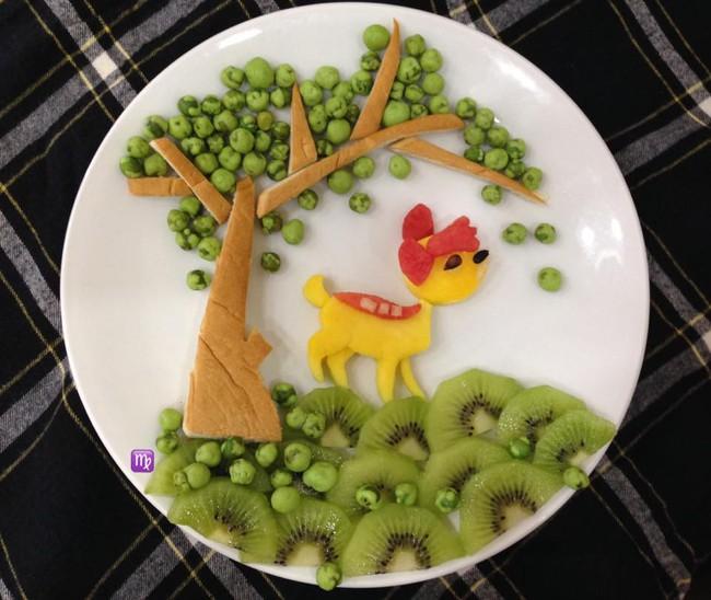 Mẹ khéo tay trang trí đĩa cơm như chuyện cổ tích cho bé khiến chị em trầm trồ ngưỡng mộ - Ảnh 4.