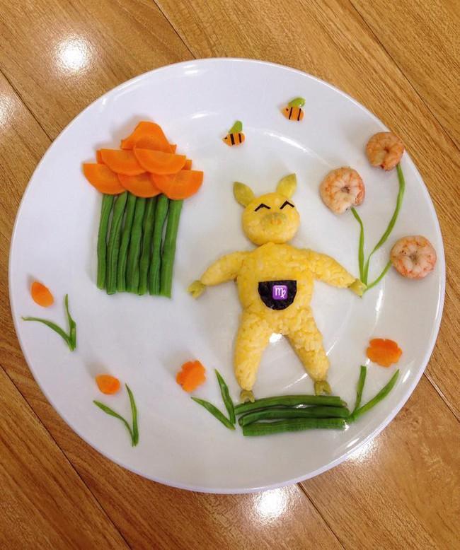 Mẹ khéo tay trang trí đĩa cơm như chuyện cổ tích cho bé khiến chị em trầm trồ ngưỡng mộ - Ảnh 6.