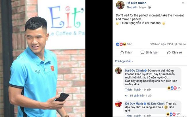 Cứ tưởng đăng status tiếng Anh sẽ được nhiều like, cuối cùng ai cũng nghĩ Đức Chinh đang... bị hack Facebook - Ảnh 1.