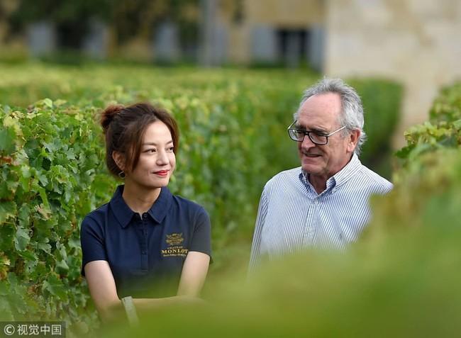 Én nhỏ Triệu Vy xinh đẹp tự tay thu hoạch nho trong khu vườn rộng 7ha của gia đình - Ảnh 9.