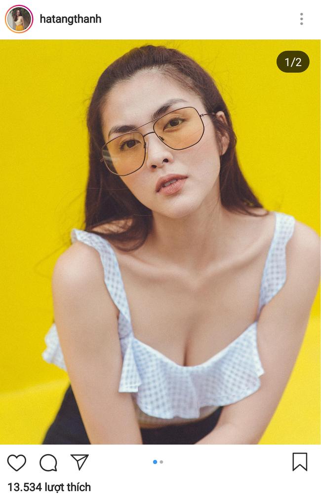 """Không dừng lại ở khoe lưng trần eo thon, giờ Hà Tăng đã diện áo hai dây để lộ thềm ngực sexy """"chết người"""" rồi đây! - Ảnh 3."""
