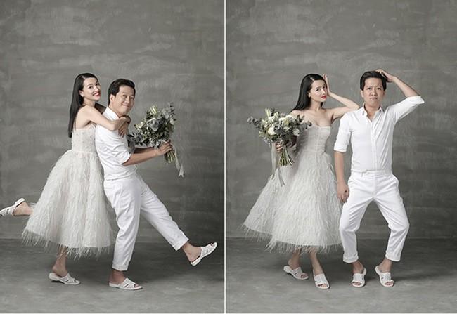 Người ta đi tổ ong loẹt quẹt ngoài đường, Nhã Phương - Trường Giang diện ngay lên ảnh cưới, lại còn xuyệt tông với váy cưới xinh tươi mới chịu - Ảnh 1.