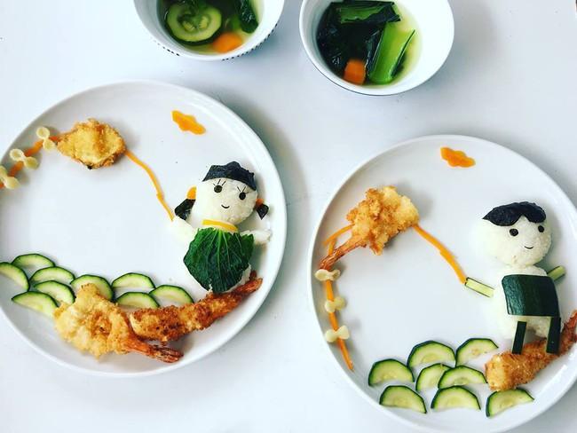 Con kể chuyện gì, mẹ Việt ở Pháp trang trí món ăn tuyệt đẹp theo chủ đề đó - Ảnh 16.
