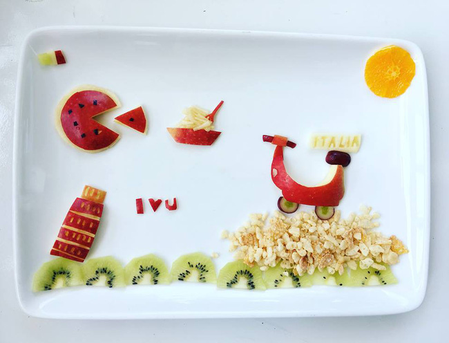 Con kể chuyện gì, mẹ Việt ở Pháp trang trí món ăn tuyệt đẹp theo chủ đề đó - Ảnh 14.