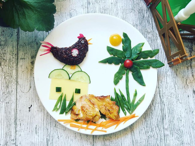 Con kể chuyện gì, mẹ Việt ở Pháp trang trí món ăn tuyệt đẹp theo chủ đề đó - Ảnh 10.
