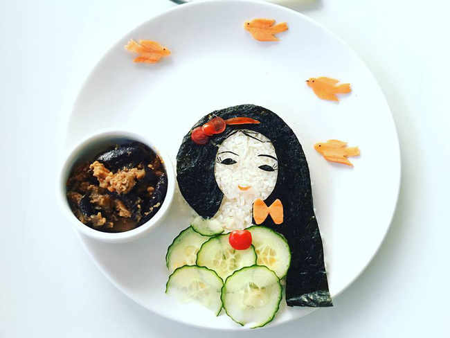 Con kể chuyện gì, mẹ Việt ở Pháp trang trí món ăn tuyệt đẹp theo chủ đề đó - Ảnh 30.