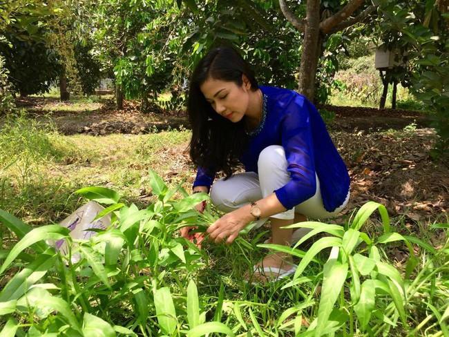 Người đẹp Tây Đô Việt Trinh và ngôi nhà an yên bên khu vườn ngập tràn rau trái - Ảnh 2.