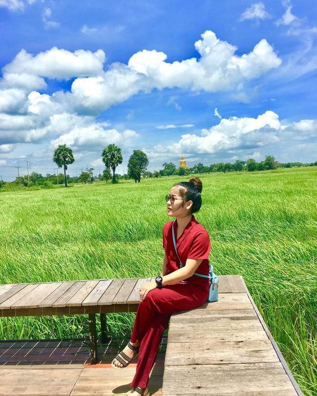 Quán cà phê rộng 30ha, view ruộng lúa bao la xanh ngát ở Thái Lan đang gây sốt rần rần - Ảnh 4.