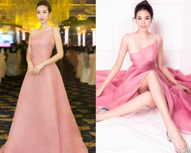 Hai nàng Hoa hậu diện chung một mẫu váy nhưng có lẽ Phạm Hương đã mất điểm trước Đỗ Mỹ Linh chỉ vì photoshop quá tay - Ảnh 3.