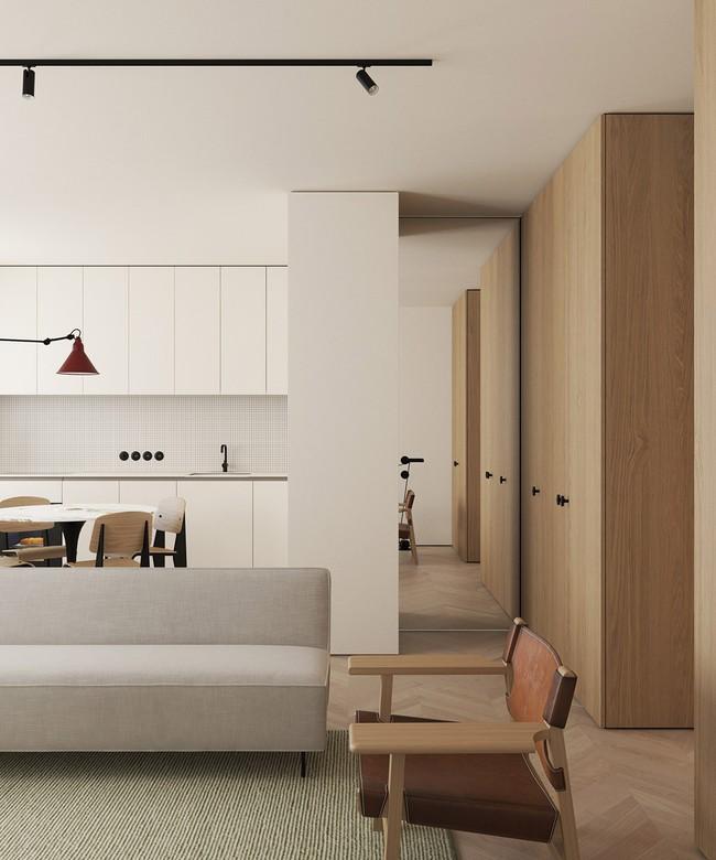 2 căn hộ nhỏ nhưng vô cùng đỉnh cao cho sự kết hợp giữa phong cách tối giản và phong cách Scandinavian  - Ảnh 2.