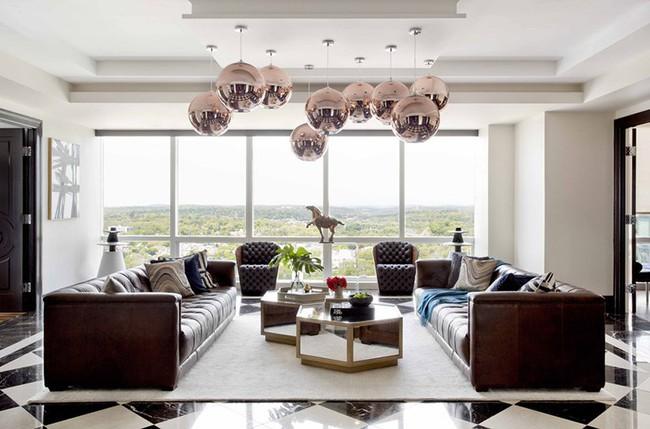 Đèn thả trần - xu hướng nội thất phòng khách 2019 để bạn lựa chọn cho gia đình - Ảnh 16.
