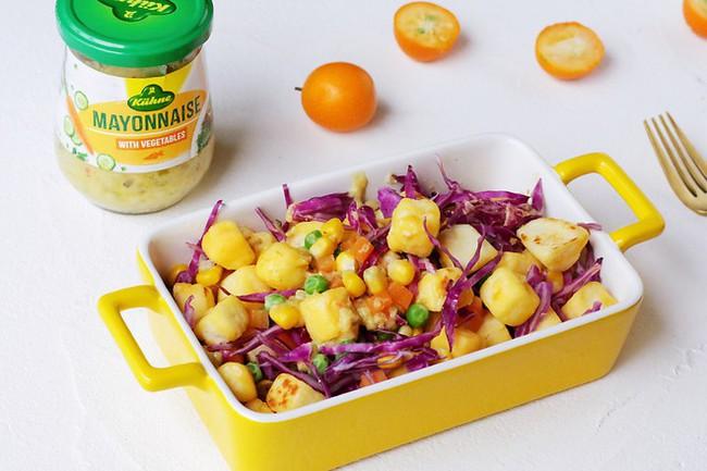 Bữa tối chỉ cần một đĩa salad thế này vừa ngon miệng lại giúp giảm cân - Ảnh 1.