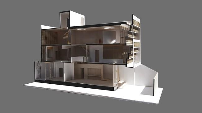 Ngôi nhà 43m² có thiết kế đặc biệt để tránh côn trùng và ô nhiễm ở Sài Gòn - Ảnh 1.