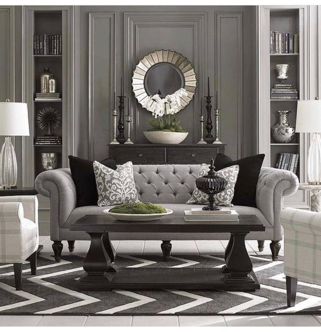 9 ý tưởng siêu tuyệt vời dành cho phòng khách cổ điển khiến bạn muốn lịm tim - Ảnh 8.