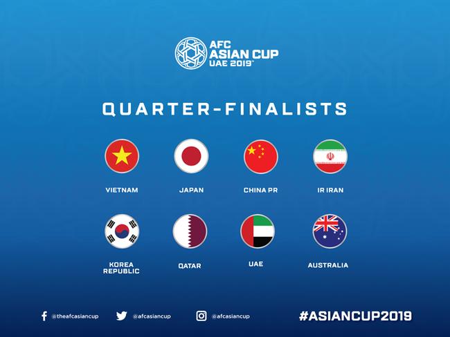 AFC công bố danh sách 8 đội lọt vào tứ kết Asian Cup 2019, nhưng phản ứng của CĐV châu Á mới đáng chú ý - Ảnh 3.