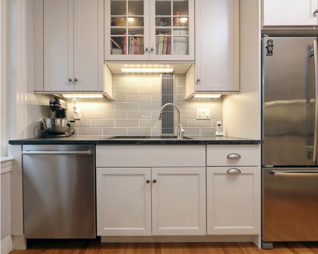 10 góc bếp nhỏ xinh được decor sáng tạo dành cho những căn hộ có diện tích khiêm tốn - Ảnh 4.