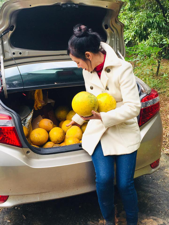 Sát Tết, NSƯT Chiều Xuân thu hoạch cả nghìn quả bưởi ở khu vườn của gia đình - Ảnh 7.