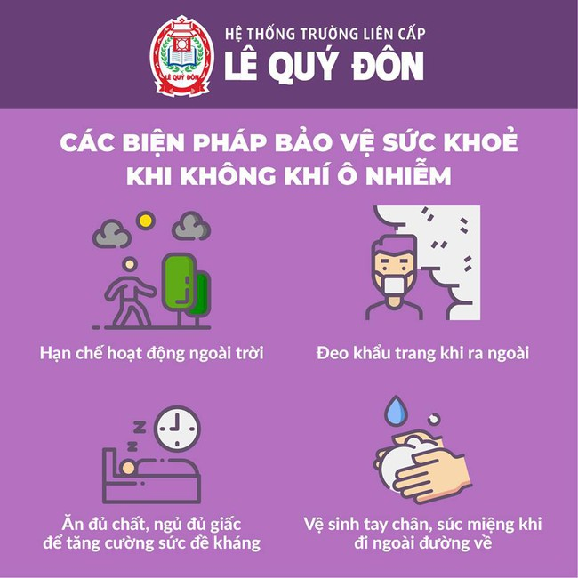 Một số trường học ở Hà Nội hoãn các hoạt động ngoài trời vì ô nhiễm không khí - Ảnh 2.