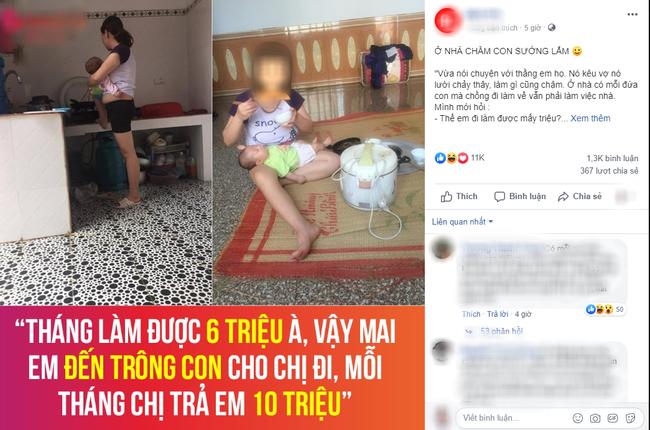 Chê vợ ở nhà chăm con nhỏ ''lười chảy thây'' ông chồng bị mẹ bỉm sữa dạy cho một bài học khiến cả nghìn chị em phụ nữ hả hê. - Ảnh 3.