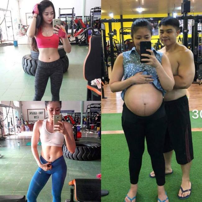 Một hình ảnh khác của bà mẹ 9x trước và khi mang thai.