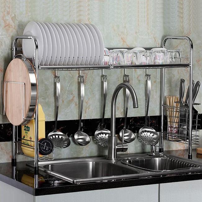 Một phụ kiện siêu thông minh cho khu vực bồn rửa sẽ khiến bà nội trợ nào cũng thích mê vì giúp bát đĩa luôn khô cong, sạch sẽ - Ảnh 12.