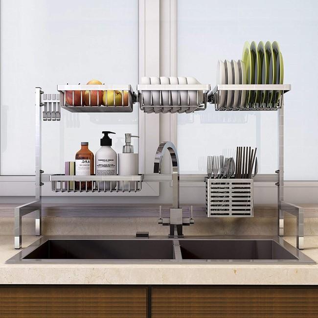 Một phụ kiện siêu thông minh cho khu vực bồn rửa sẽ khiến bà nội trợ nào cũng thích mê vì giúp bát đĩa luôn khô cong, sạch sẽ - Ảnh 16.