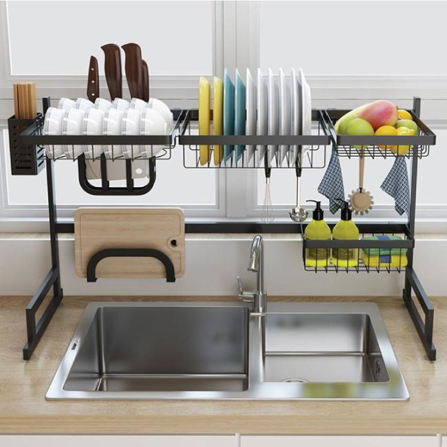 Một phụ kiện siêu thông minh cho khu vực bồn rửa sẽ khiến bà nội trợ nào cũng thích mê vì giúp bát đĩa luôn khô cong, sạch sẽ - Ảnh 3.
