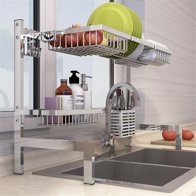 Một phụ kiện siêu thông minh cho khu vực bồn rửa sẽ khiến bà nội trợ nào cũng thích mê vì giúp bát đĩa luôn khô cong, sạch sẽ - Ảnh 19.