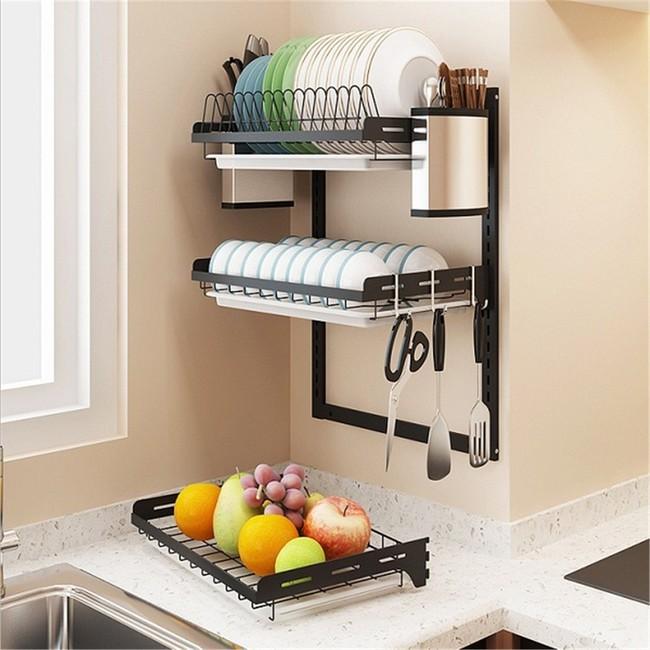 Một phụ kiện siêu thông minh cho khu vực bồn rửa sẽ khiến bà nội trợ nào cũng thích mê vì giúp bát đĩa luôn khô cong, sạch sẽ - Ảnh 23.