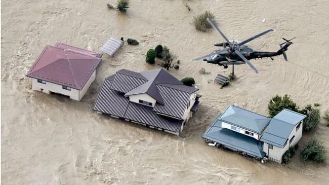 Cụ bà 77 tuổi tử vong thương tâm vì rơi khỏi trực thăng trong khi được giải cứu trong bão Hagibis - Ảnh 1.