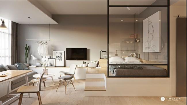 Ý tưởng thiết kế căn hộ studio siêu nhỏ nhưng cực hiện đại dành cho cả gia đình nhỏ xinh - Ảnh 1.
