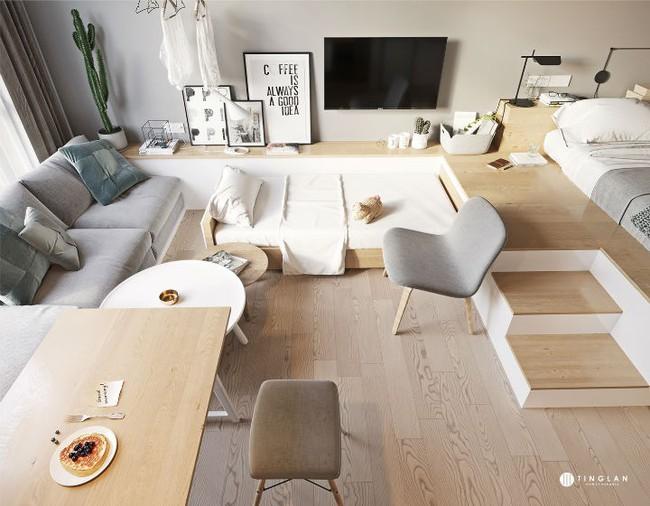 Ý tưởng thiết kế căn hộ studio siêu nhỏ nhưng cực hiện đại dành cho cả gia đình nhỏ xinh - Ảnh 6.