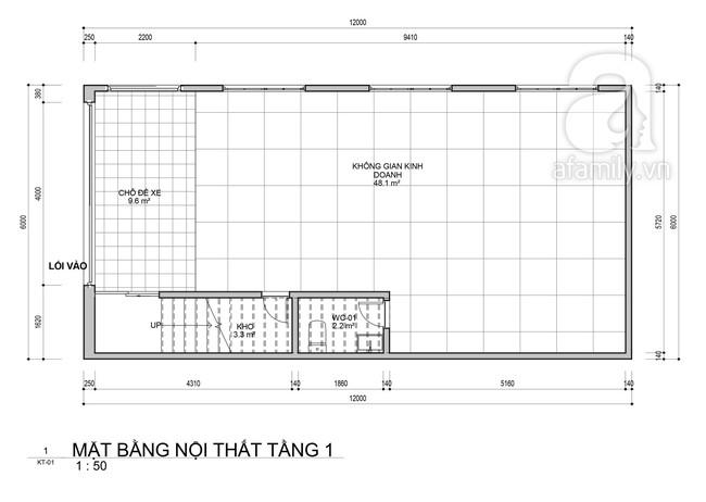 Tư vấn thiết kế nhà ở gia đình có diện tích (6x12m) cho 4 người với chi phí gần 3 tỷ đồng - Ảnh 1.
