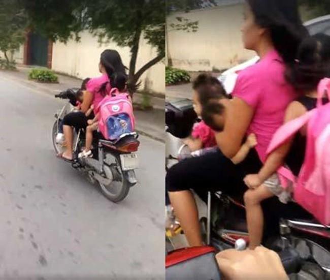 Dân mạng sốc với hình ảnh người phụ nữ vừa đi xe máy vừa ... cho con bú - Ảnh 5.
