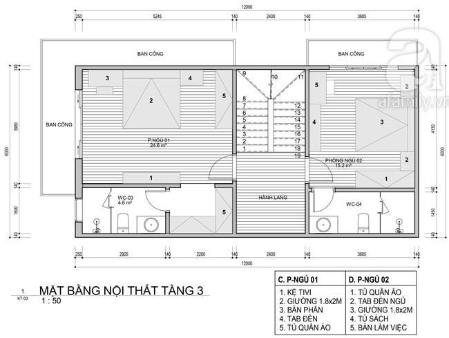 Tư vấn thiết kế nhà ở gia đình có diện tích (6x12m) cho 4 người với chi phí gần 3 tỷ đồng - Ảnh 3.