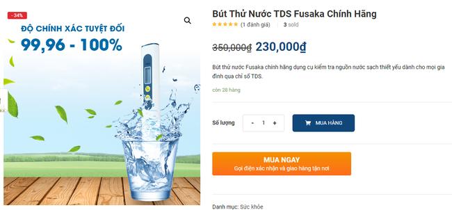 Nếu đang còn băn khoăn chất lượng nước tại nhà, người tiêu dùng có thể mua ngay sản phẩm này để kiểm tra độ sạch - Ảnh 3.