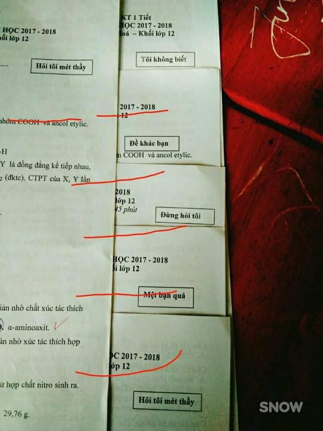 Thấu hiểu tâm lý học sinh trong giờ kiểm tra, cô giáo đặt tên đề chẳng giống ai nhưng dân mạng thì méo mặt - Ảnh 7.