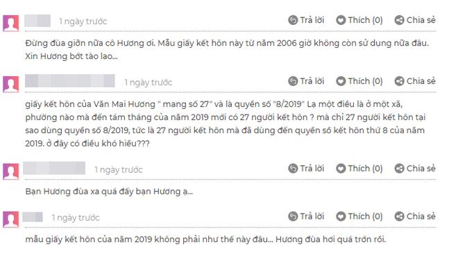 """Mới gây sốt vì thông tin sắp làm cô dâu, Văn Mai Hương đã bị """"bóc phốt"""" giấy đăng ký kết hôn là hàng giả - Ảnh 4."""