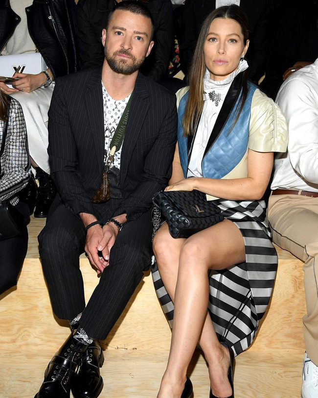 """""""Giáo chủ khả ái"""" Dương Thừa Lâm đẹp không góc chết, Justin Timberlake bất ngờ bị quấy rối khi đi xem show Louis Vuitton - Ảnh 9."""