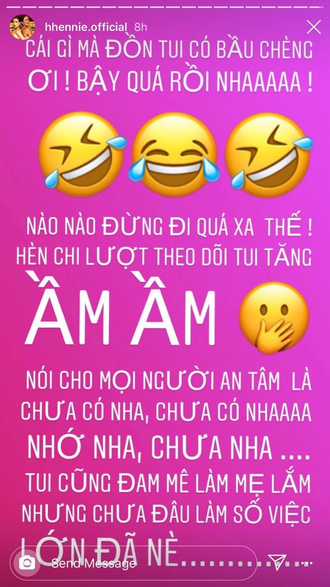 Bị đồn mang thai vì đột nhiên dừng việc đồng hành cùng Hoa hậu Hoàn vũ Việt Nam 2019, H'Hen Niê chính thức lên tiếng  - Ảnh 1.